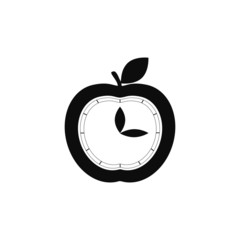apple, clock icon vector illustration EPS 10
