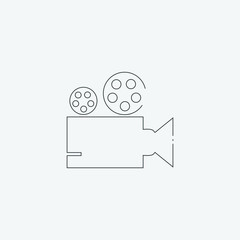 video camera icon, vector illustration. flat icon