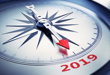 Kompass Silber 2019 rot