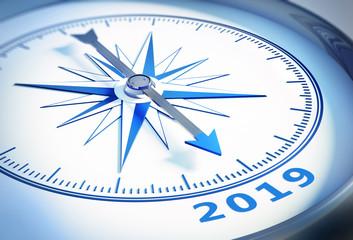 Kompass weiß blau 2019