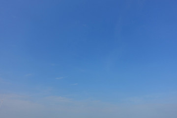 Blue clear sky background.
