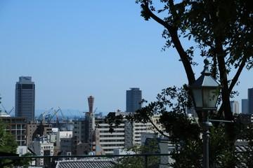 神戸・北野町の公園からの風景