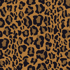 leopard seamless pattern, vector