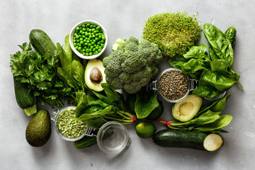Source protein vegetarians Top view healthy food clean eating Wall mural