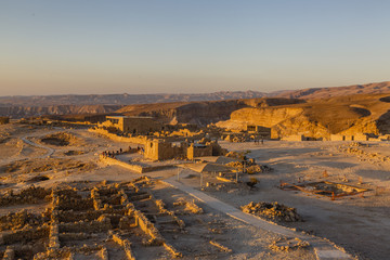 Masada fortress at the edge of the Judean Desert, Israel.