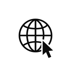 Wall Mural - Globe related outline icons. Web apps. Thin line vector icons for website design and development, app development. Vector illustration.