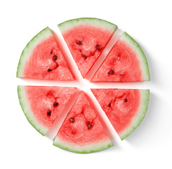 Wall Mural - sliced watermelon isolated on white background