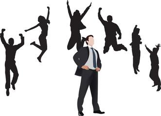esultanza dei collaboratori per evento contrattuale