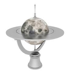 Tischglobus mit dem Mond, Freisteller