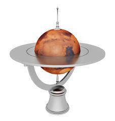 Tischglobus mit dem Mars, Freisteller