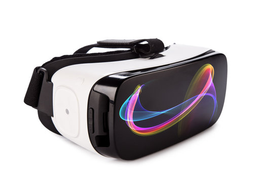VR virtual reality glasses on white background