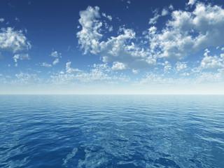 Wolken über dem Ozean