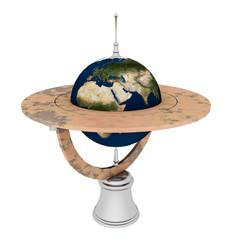 Tischglobus mit der Erde, Freisteller