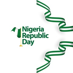 Nigeria Republic Day Vector Template Design Illustration