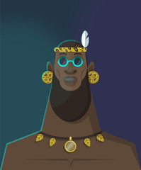 African Chief Character Design