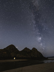 Milky Way Passing Over Three Cliffs Bay