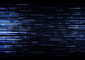 blue overlap pixel speed in dark background, geometric layer motion backdrop, simple technology template, vector illustration