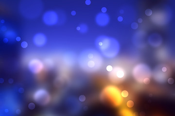 Blurred colorful bokeh from urban lights