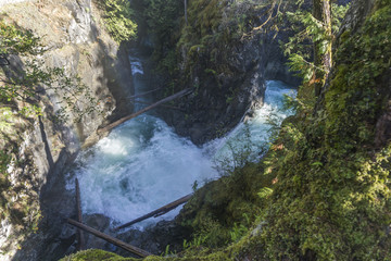 View of Little Qualicum Falls on Vancouver Island, Canada