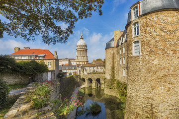 Fortified city of Boulogne-sur-Mer, France