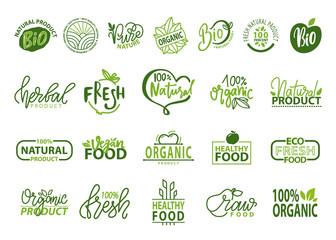 Natural Bio and Organic Food Vector Illustration