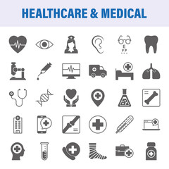Healthcare And Medical Set Of Vector Icons
