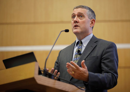 St. Louis Federal Reserve Bank President James Bullard speaks at a public lecture in Singapore