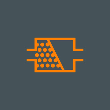 DPF diesel particulate filter icon