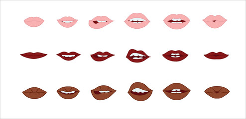 Lips vector collection.