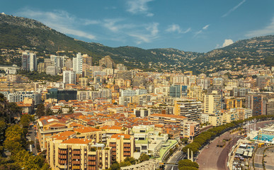 Port Hercule and La Condamine district in the Principality of Monaco during a summer day