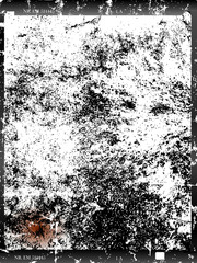 Wall Mural - old distressed large format glass negative  photo frame, empty, grungy stucture with space for pix