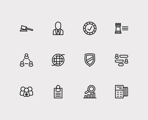 Commerce icons set. Credit card and commerce icons with leadership, conversation and reliable value. Set of banker for web app logo UI design.