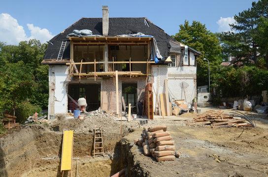 Baustelle, Haus