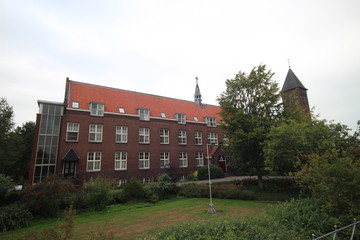 monastery of the Passionists and the Gabriel church in Haastrecht, The Netherlands.