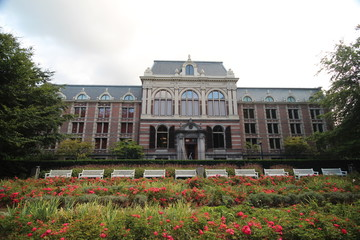 Backside of one of the buildings of paleis Noordeinde in Den Haag (The Hague) in the Netherlands