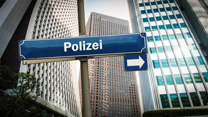 Schild 375 - Polizei