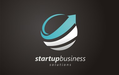 Logo vector for business and presentation of success. Arrow symbol to see success in the company. Sign for positive movement in business and finance. Success from start to initial business.