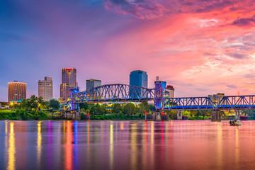 Fototapete - Little Rock, Arkansas, USA Skyline