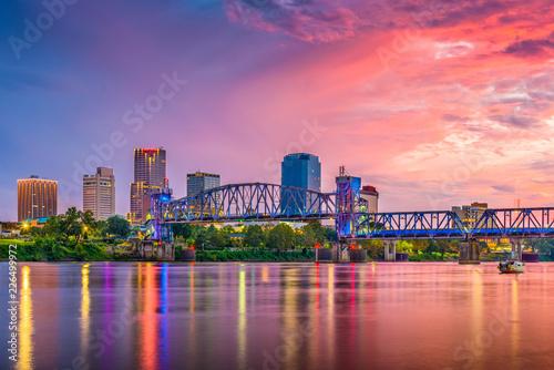 Fototapete Little Rock, Arkansas, USA Skyline