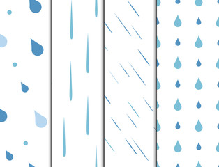 Rain drops seamless pattern background vector water blue nature raindrop abstract illustration