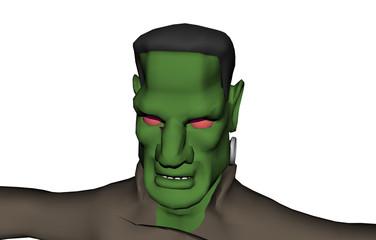 Grünes Frankensteinmonster