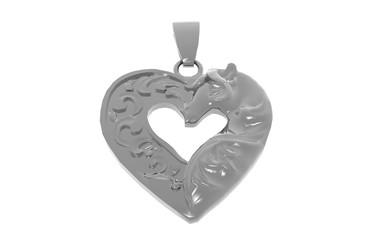 Silberner Herz Anhänger