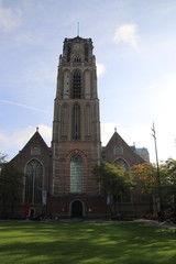 The ancient Laurenskerk church, one of the few buildings which survived the 1940 bombing during world war 2