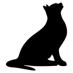 Cat Silhouette Vector Illustration