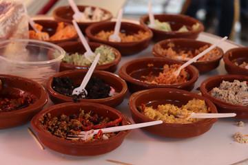 Various Spanish tapas