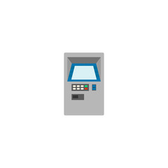 ATM, The process of obtaining cash using a plastic card and a special bank machine. Vector illustration of a financial financial operation.