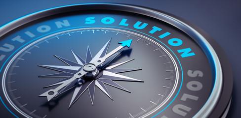 Dunkler Kompass - Konzept Solution