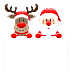Rudolph & Santa With Label