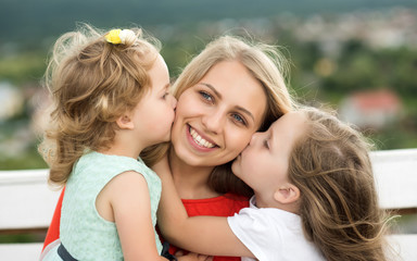 Happy childhood, family, love