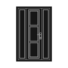 Vector illustration of door and front icon. Set of door and wooden stock vector illustration.